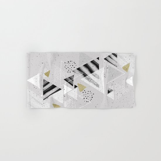 Geometric abstract triangles Hand & Bath Towel