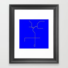 LA Metro Framed Art Print