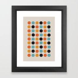 Bauhaus dots Framed Art Print