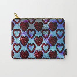 Gothic Rose Petal Hearts Carry-All Pouch