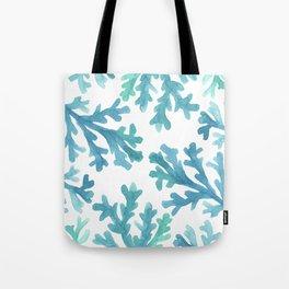 Blue Ombre Coral Tote Bag