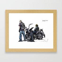Jax N Bobby Framed Art Print