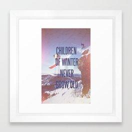 Children of Winter Framed Art Print