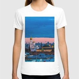 Moscow Sunset With An UFO T-shirt