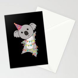 Birthday Bear Koala Bear Bear Garland Stationery Cards