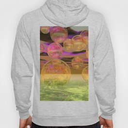 Peace in the Storm - Abstract Bronze Tranquility Hoody