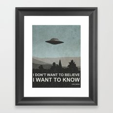 I Want to Know Framed Art Print