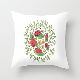 """Lady Buggers"" Throw Pillow"