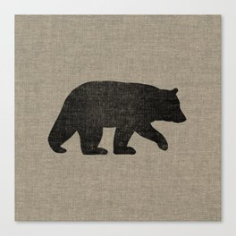 Black Bear Silhouette Canvas Print