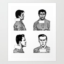 Dick and Perry Art Print