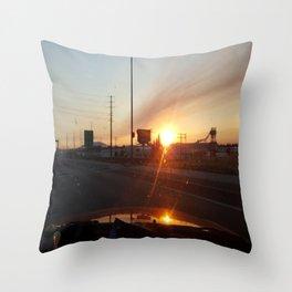 Morning Sunrise and Go Ducks! Throw Pillow