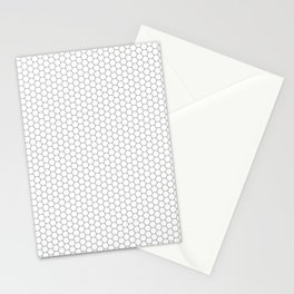 Hexagon Pattern Grey and White Stationery Cards