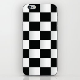 BLACK AND WHITE SQUARES Abstract Art iPhone Skin
