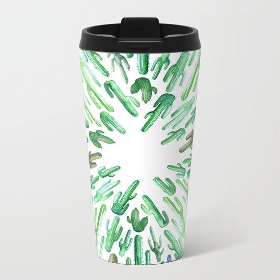 cactus invasion Metal Travel Mug