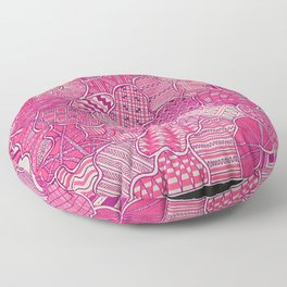 Organized Chaos - Pink Floor Pillow