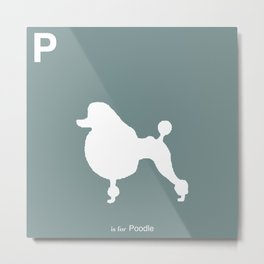 Poodle Blue | Dogs Metal Print
