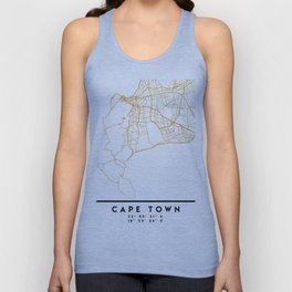 CAPE TOWN SOUTH AFRICA CITY STREET MAP ART Unisex Tank Top