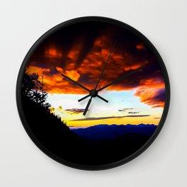 Imp Sunset Wall Clock