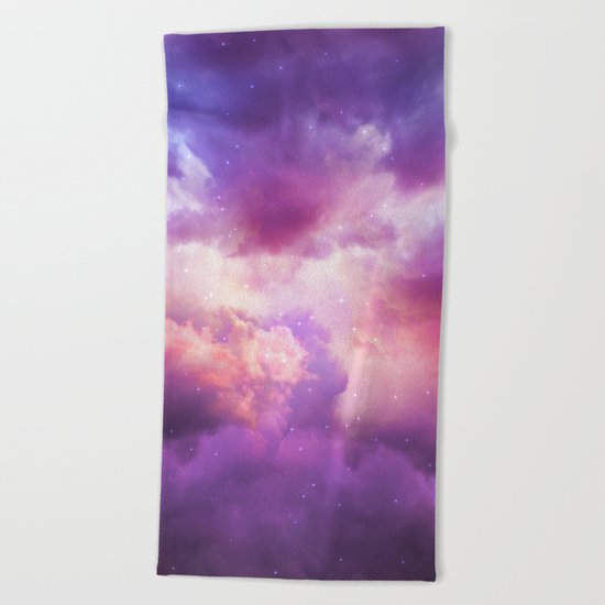 The Skies Are Painted (Cloud Galaxy) Beach Towel
