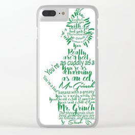 Mr.Grinch Typography Clear iPhone Case