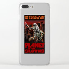 Planet Of The Sloths Clear iPhone Case