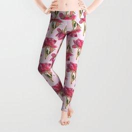 Peony pattern Leggings