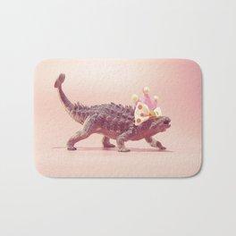 Ankylosaurus with crown Bath Mat
