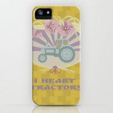 I Heart Tractors - mustard iPhone (5, 5s) Slim Case
