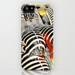 1457s-AK Powerful Nude Woman Kandinsky Style Rear View by Chris Maher iPhone Case