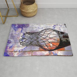 Basketball hoop dreams Rug