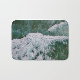 Surf Photography, Beach Wall Art Print, Ocean Water Surfing, Coastal Decor Bath Mat