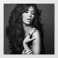 kim kardashian Canvas Prints featuring Kim Kardashian West by I Love Decor