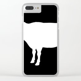Cow Cow Image Clear iPhone Case