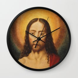Head of Christ, Dirk Bouts, 15th Century Dutch Painting Wall Clock