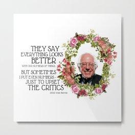 Floral Bernie Sanders Metal Print