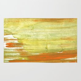 Vegas gold abstract watercolor Rug