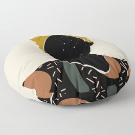 Black Hair No. 10 Floor Pillow