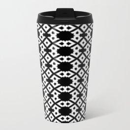 Repeating Circles Black and White Travel Mug