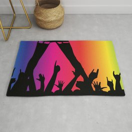 Entertainer With Audience Rug