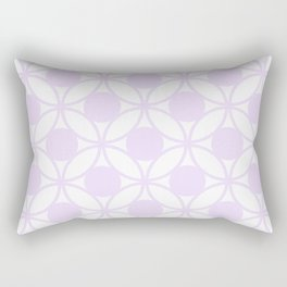 Geometric Circles In Delicate Pale Lilac and White Rectangular Pillow