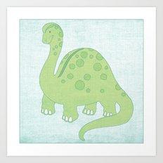 Deeno the Dino Art Print