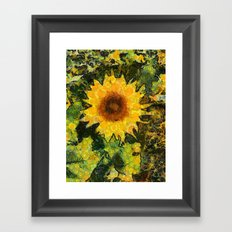 you can't have enought sunflowers Framed Art Print