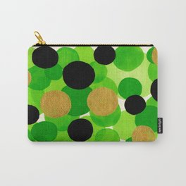 Lime Green Watercolor Bubbles Carry-All Pouch