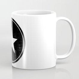 Retro black and white star  Coffee Mug