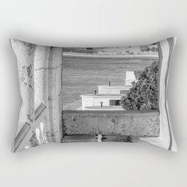 Lisbon Belem tower black white Rectangular Pillow