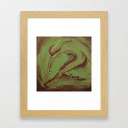 Dancer green Framed Art Print