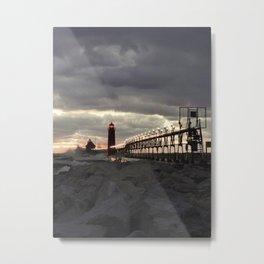Grey Sunset Metal Print