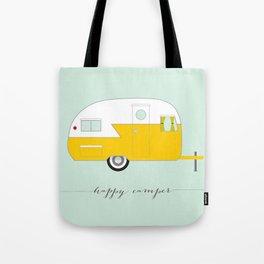 Yellow Happy Camper Tote Bag
