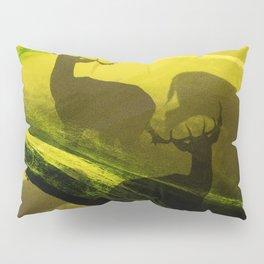 Oh Deer Complex Green Pillow Sham