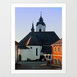 The village church of Vorderweissenbach | architectural photography Art Print